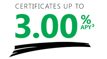 IRA Certificates up to 3.00%APY
