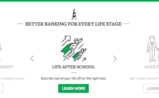 were here for you every step of the way on your personal financial journey cycle through unique life stage options on the homepage to solve everyday
